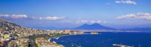 Naples' gulf with Mount Vesuvius