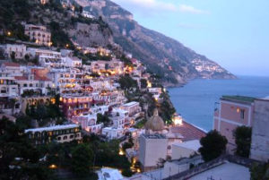Positano at the sunset