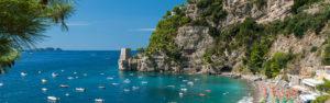 Positano's beach with Li Galli islands