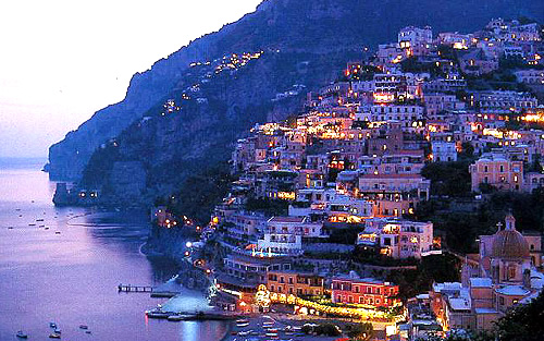 Positano at sunset