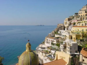 "Positano with ""Li Galli"" islands"